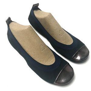 "Yosi Samra ""Samara"" foldable comfort leather flats"